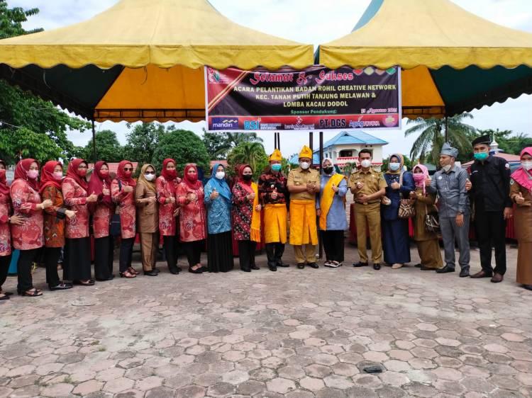Bupati Rohil Afrizal Sintong membuka Festival Lomba Kacau Dodol Se-Kecamatan Tanah Putih Tanjung Melawan