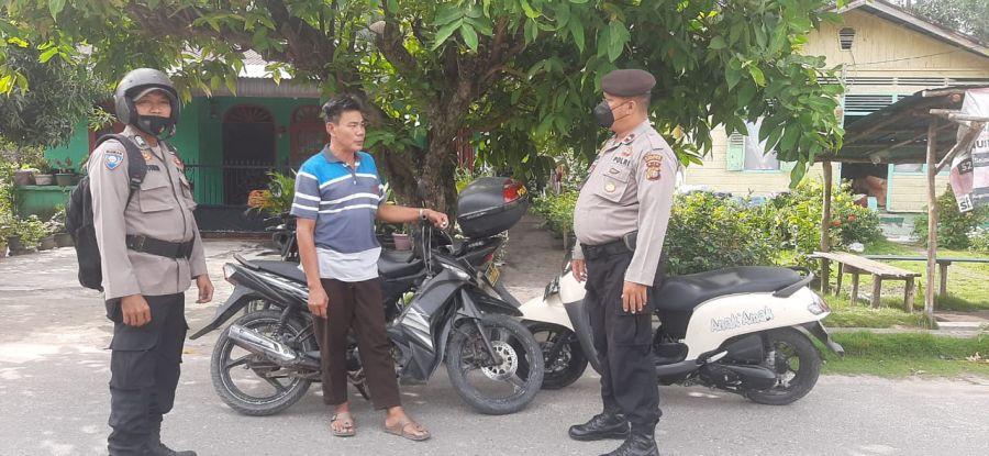 Giat Rutin Patroli Polsek TPTM Rohil Cegah Gangguan Kamtibmas