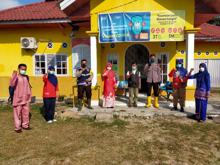 Kapolsek TPTM Bersama Dinas Kesehatan Riau Berkoordinasi Dalam Pelaksanaan Terkena Dampak Karhutla