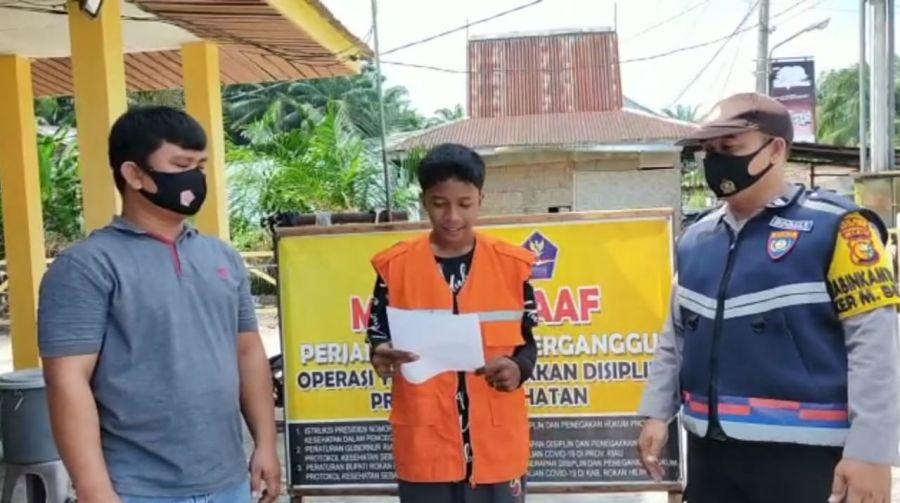Polsek TPTM Rohil Laksana mengelar Operasi Yustisi Oleh Tim Pemburu Teking Covid-19