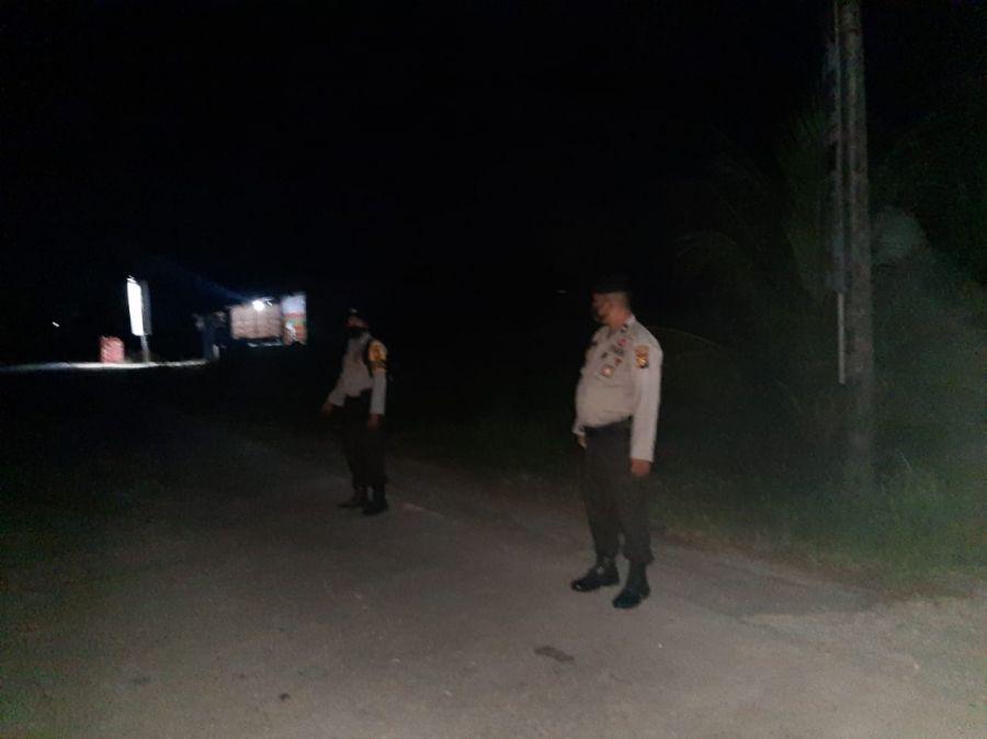 Polsek TPTM Rohil Lakukan Patroli di Perbatasan
