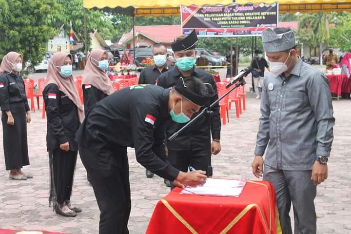 Rahmat Pantun Resmi Pimpin BRCN Kecamatan Tanah Putih Tanjung Melawan