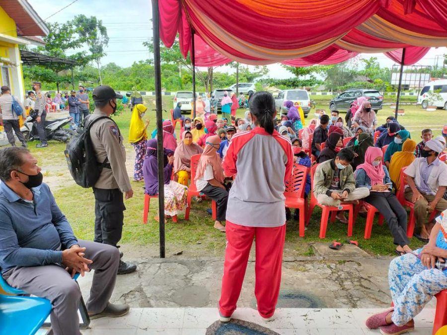 Sambut HUT Bhayangkara Ke-75, Polsek TPTM Mengadakan Vaksin Gratis