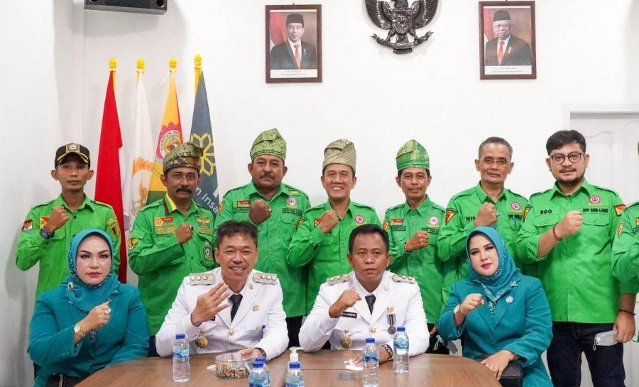 Setelah dilantik menjadi Bupati, Pangdam RMB - LHMR Rohil Bersilahturahmi  ke DPP