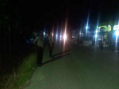 Jaga Keamanan, Personil Polsek TPTM Lakukan Patroli Hingga ke Perbatasan