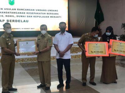 KecamatanTPTM  Raih Juara 3 Evaluasi Kinerja Kecamatan Se-Riau