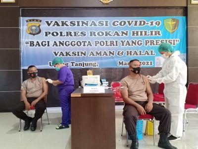 Polres Rohil Kembali Laksanakan Kegiatan Vaksinasi
