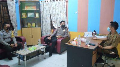 Polsek TPTM Bersilaturahmi Di Kepenghuluan Labuhan Papan Mengajak Mensukseskan Vaksinasi Covid19