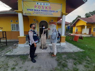 Polsek TPTM Giat Sosialisasi dan Himbauan tentang PPKM Mikro