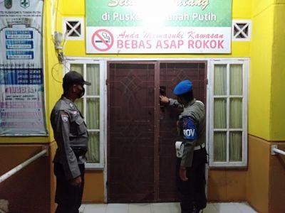 Polsek TPTM  Patroli pengecekan Vaksin Sinovac Covid19 di Puskesmas