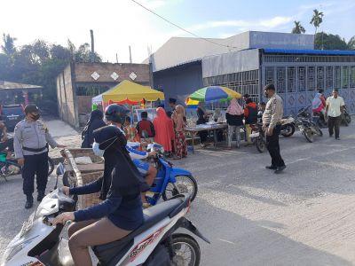 Polsek TPTM Pimpin Giat Pengamanan Pasar Ramadhan