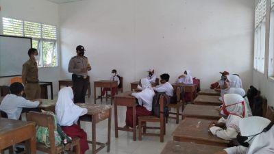 Polsek TPTM Sosialisasi Prokes Covid-19 di Sekolah Tingkat SD dalam Rangka PTM