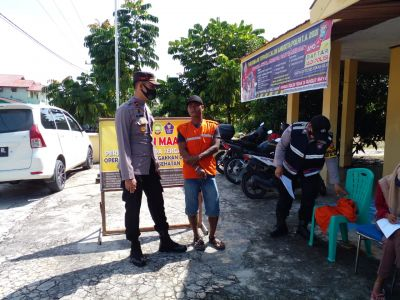 Tim Pemburu Teking Covid-19 Polsek TPTM Laksanakan Operasi Yustisi Masih Menemukan Masyarakat Yang Tidak Disiplin